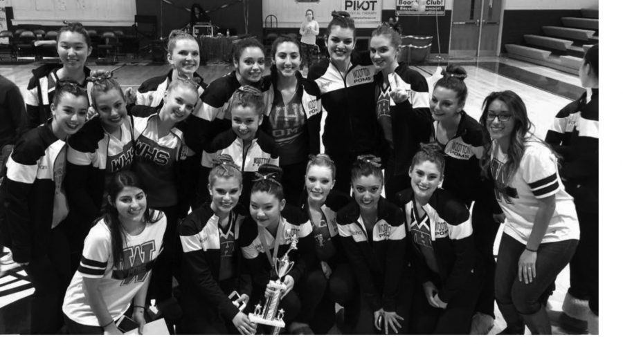 Season heats up as weather cools down; poms place first in last competition
