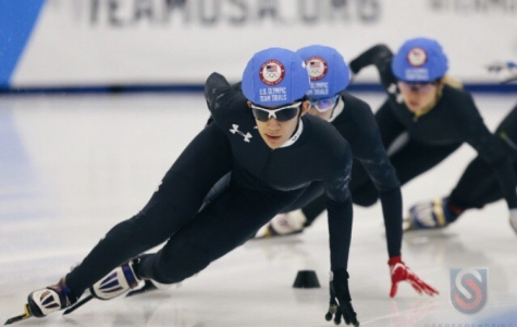 National champion Hachem participates in 2018 speedskating Olympic trials