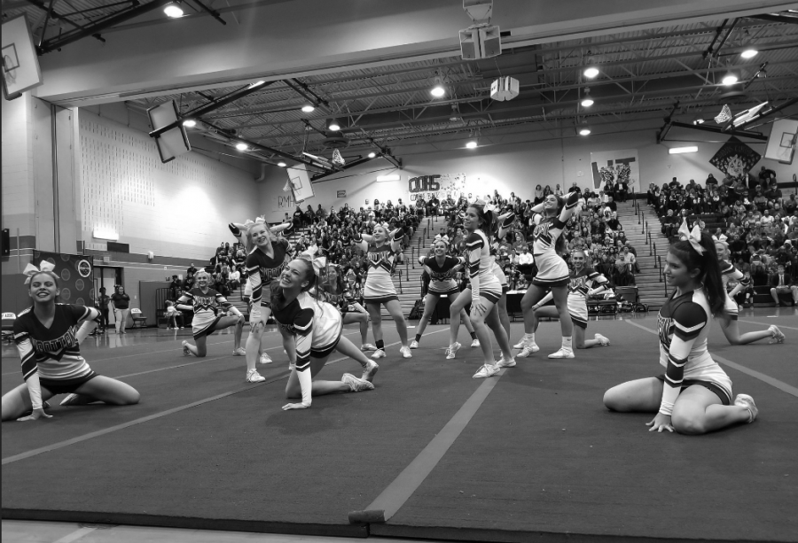 Cheer finishes third at county competition, advances to regionals