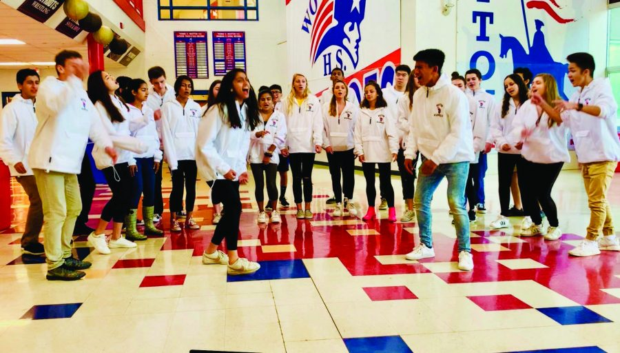 School tradition of Singing Valentines delights students