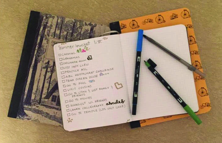 Students aim to complete summer bucket list