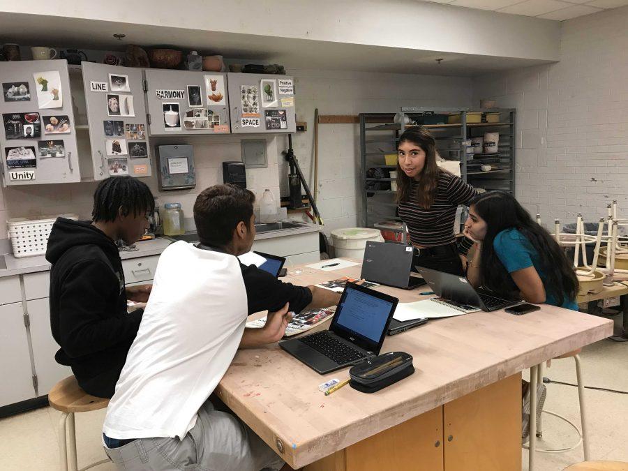 Students enjoy relaxing, creative AP art classes
