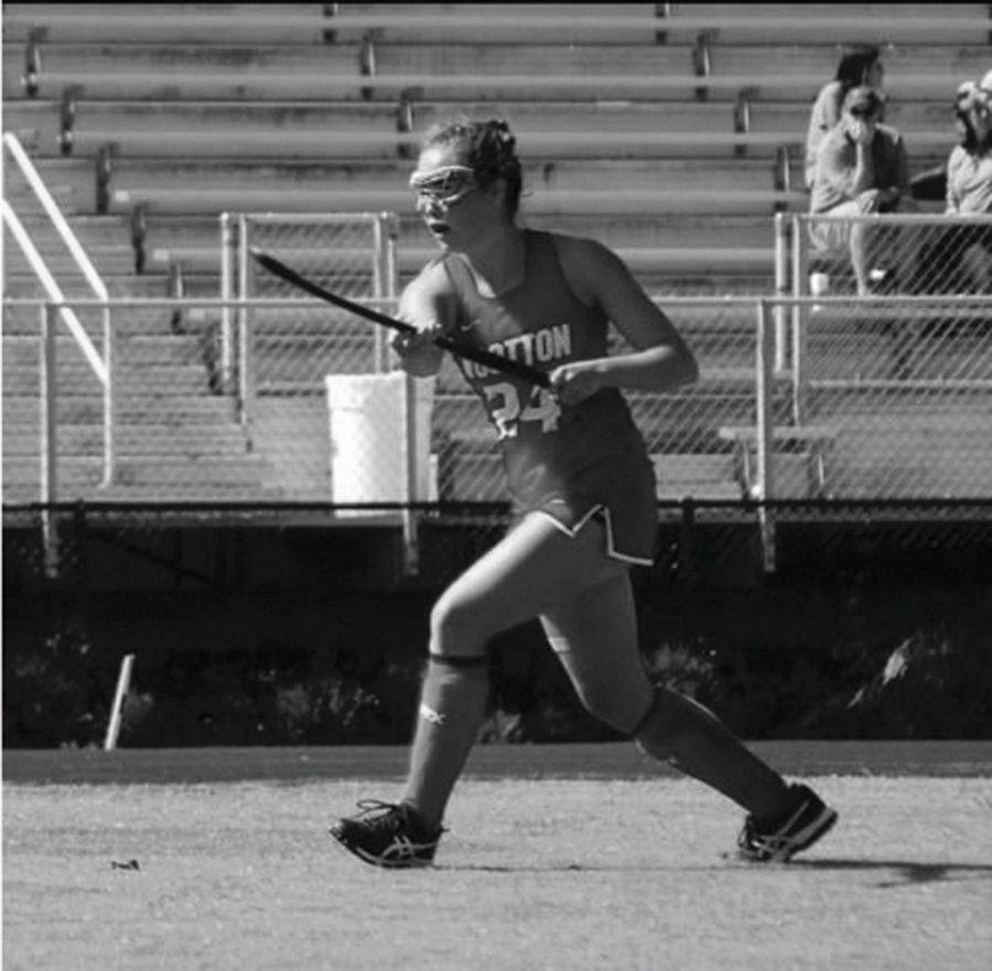 See manages extracurriculars: field hockey, band