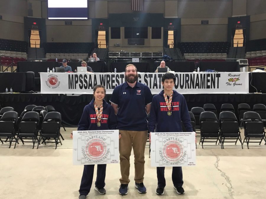 Gong wins first girls'  state wrestling championship