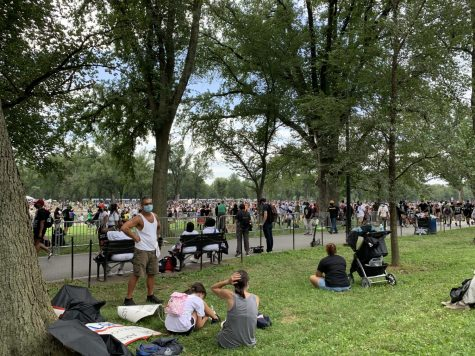 Thousands of protestors gather by the reflecting pool at the steps of the Lincoln Memorial in Washington DC to hear speakers and to march during the fight against police brutality and systemic injustice against black people on Aug. 28. Photo by Nicolas DePalma.
