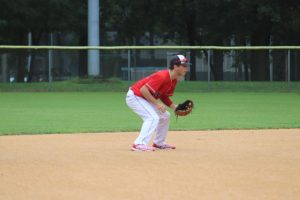 Junior Brady Weiss gets ready for the pitch in a tournament on August 29th.
