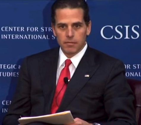 Former Vice President Joe Biden's son Hunter Biden, who President Donald Trump attacked at the debate, talks to the press.
