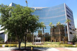 The Zoom headquarters building at 55 Almaden Boulevard in San Jose, CA.