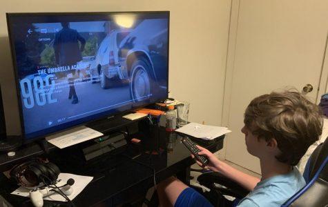 Sophomore Peter Stanton Shepard is filling his time binge watching The Umbrella Academy.
