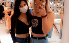 Senior Kailyn Kings shops at Forever 21 in Montgomery Mall in September, following mask protocols.