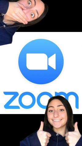 Zara Denison demonstrates her different moods when it comes to Zoom classes.