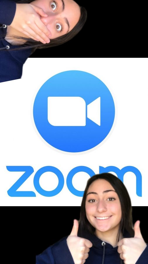 Zara+Denison+demonstrates+her+different+moods+when+it+comes+to+Zoom+classes.