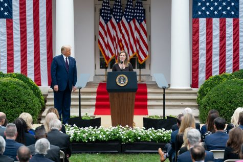 Outgoing President Donald Trump nominates Judge Amy Coney Barrett for Associate Justice of the U.S. Supreme Court.