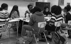 Students sit down and discuss the Minority Scholars Program's purpose at a meeting on Nov. 12, 2019.