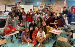 SGA dresses up for pajama day during spirit week last year.