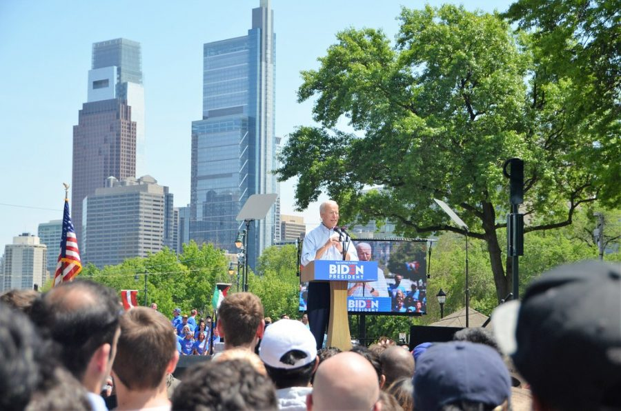 Joe Biden, the winner of the 2020 presidential election, makes a speech to some of his 78 million supporters.