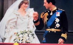 Prince Charles and Princess Diana of Wales' wedding day at Buckingham Palace in 1981.