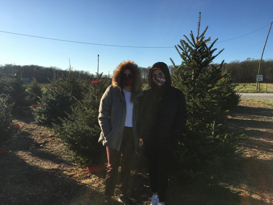 Senior Jenna Robinson and her sister go Christmas tree shopping and enjoy their time home together.