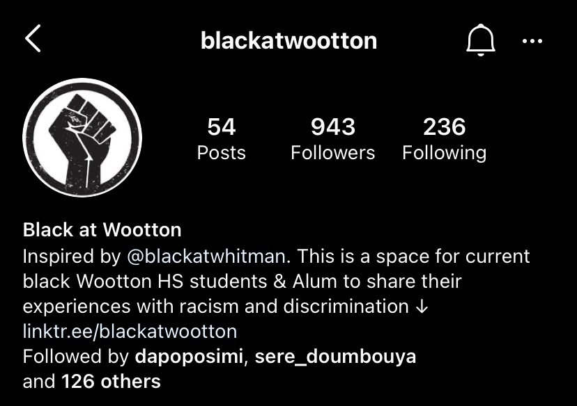 Attendees+discussed+the+%40blackatwootton+Instagram+account%2C+where+students+can+anonymously+submit+their+experiences.+Students+have+reflected+on+how+much+racism+went+unnoticed+before+the+account+gained+popularity.