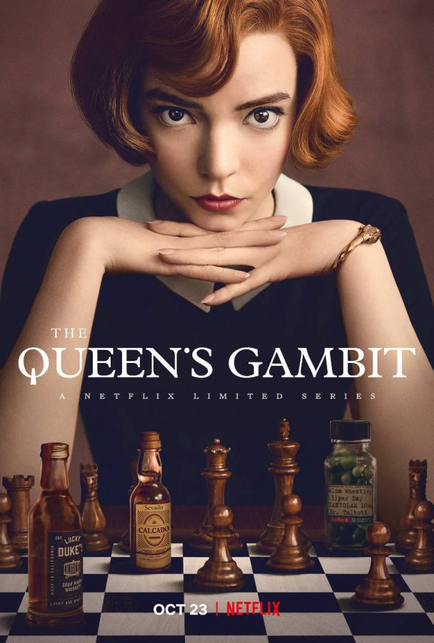 The Queen's Gambit Netflix series cover grabs viewers' eyes.