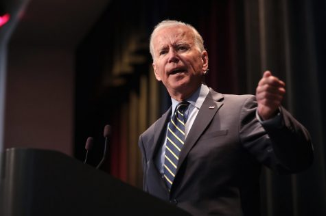 President-elect Joe Biden speaks at the 2019 Iowa Federation of Labor convention Aug. 21 in Altoona, Iowa.