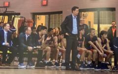 Varsity boys' basketball Coach Erick Graves