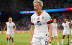 Megan Rapinoe plays on the U.S.A. women's soccer team and is one of the people fighting for equal pay for women.