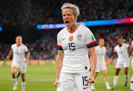 Megan Rapinoe plays on the U.S.A. women