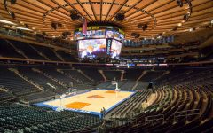 Madison Square Garden prepares for a season with no fans in attendance.
