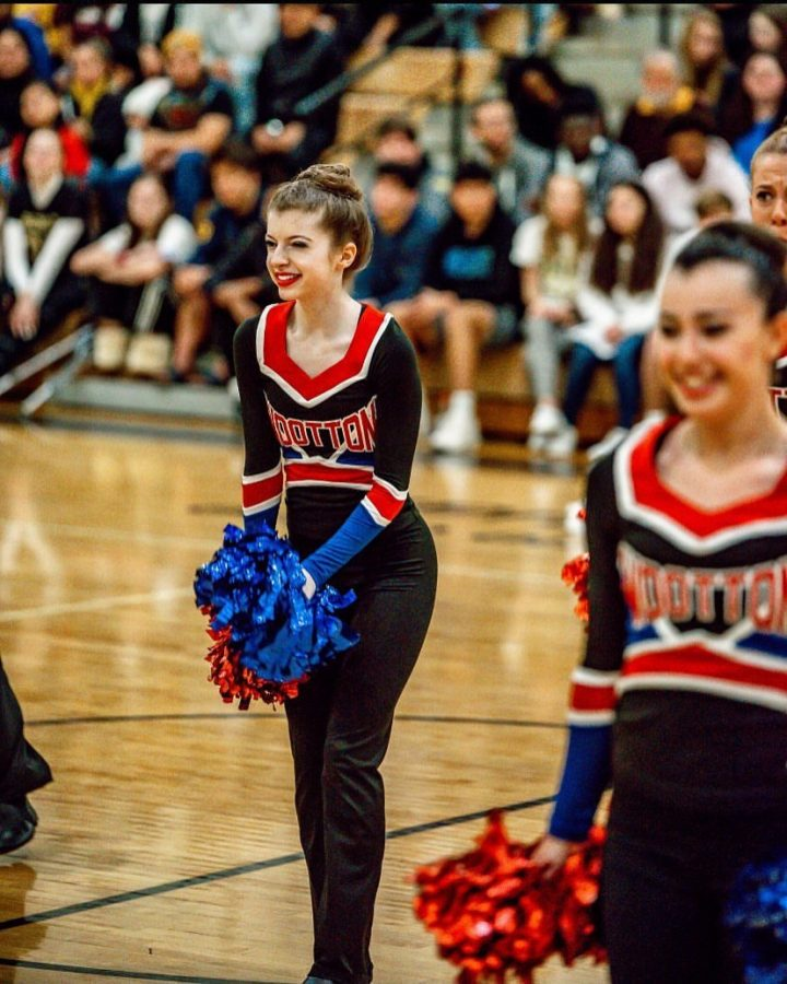 Senior+Jillian+Pohoryles+performs+on+Jan.11+at+Northwest+for+a+poms+competition.