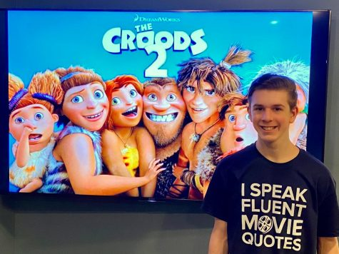 "Junior Joshua M. Freedman gets ready to watch an early premiere of ""The Croods: A New Age"" from his home on Jan. 13."