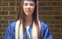2020 senior class Secretary Macy Fewell speaks at last year's virtual graduation.