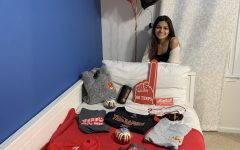 Senior Nandita Gupta celebrates her commitment to University of Maryland College Park.