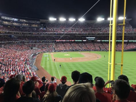 Nationals fans get ready for game 5 of the World Series on Oct. 27, 2019.