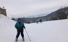 Senior Kelly Baldwin enjoys a day at Whitetail Resort and is glad COVID-19 restrictions don't prevent her from skiing.