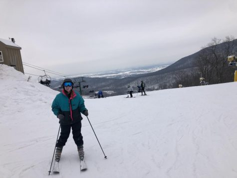 Senior Kelly Baldwin enjoys a day at Whitetail Resort and is glad COVID-19 restrictions don
