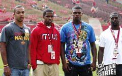 2010 high school football recruits Jared Barnett, Chris Young, Cqulin Hubert and Duran Hollison a trip to Iowa State.