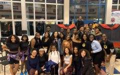 Members of the Black Student Union gather to celebrate Black History Month during February 2020 with a variety of artistic performances.