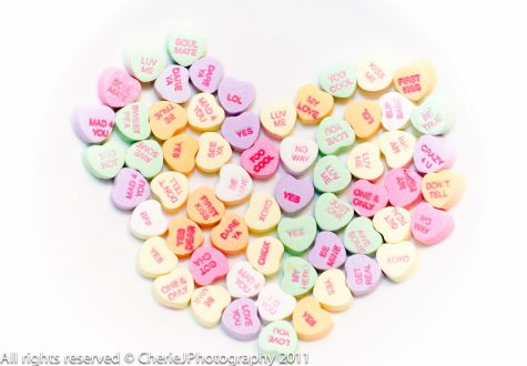 Conversation Hearts are a common candy around Valentine
