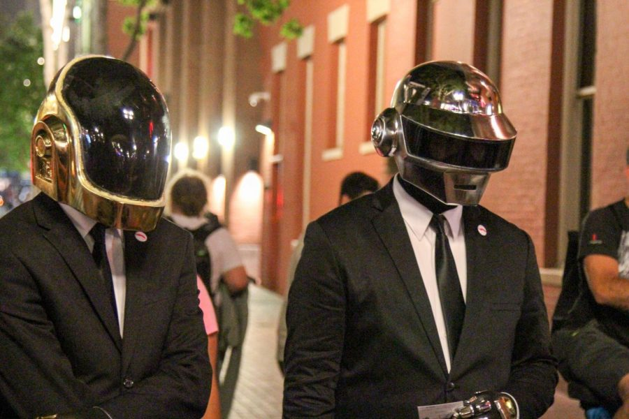 Daft+Punk+is+comprised+of+Guy-Manuel+de+Homem-Christo+%28left%29+and+Thomas+Bangalter+%28right%29.+Their+28-year+career%2C+beginning+in+1993%2C+has+come+to+an+end+eight+years+after+their+most+recent+studio+release.