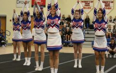 Cheer team perform in their most recent regionals competition on  Nov 2 2019