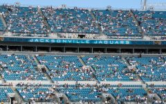 Jacksonville Jaguars fans watch their team's 1-15 season on TIAA Bank Field.