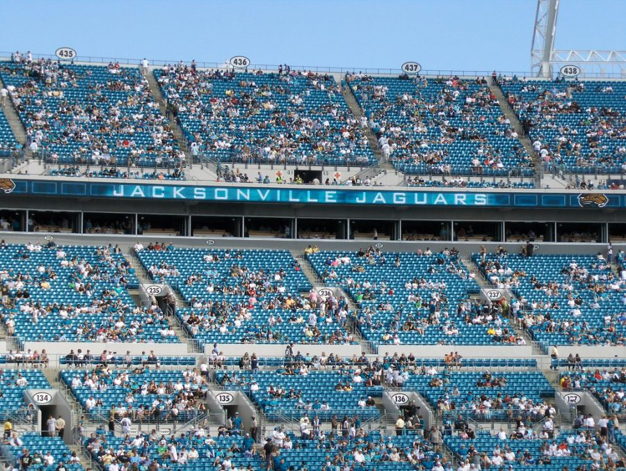 Jacksonville+Jaguars+fans+watch+their+teams+1-15+season+on+TIAA+Bank+Field.