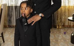 Lil Baby and his son before the Grammy's.