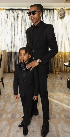 Lil Baby and his son before the Grammy