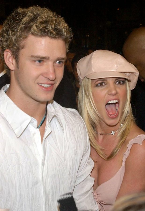 Britney Spears with ex-boyfriend Justin Timberlake at the 'Crossroads' premiere.