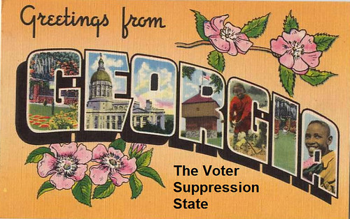 Georgia takes center stage in GOP voter suppression controversy.