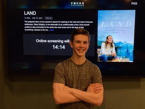 "Junior Joshua M. Freedman is excited to watch an early premiere of ""Land"" from his home on Mar. 4."