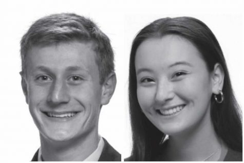 From left to right: Candidates Henry Kaye and Hana O
