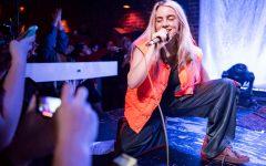 Billie Eilish performs.